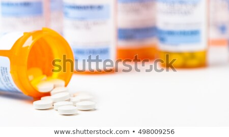Recept farmaceutisch antibioticum geneeskunde pillen Stockfoto © Lightsource