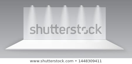 Trade Exhibition Wall With Lighting Lamps Vector Stock photo © pikepicture