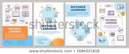 расстояние образование типографики баннер онлайн Сток-фото © -TAlex-