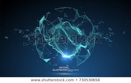 glowing digital particle sphere technology background design Stock photo © SArts