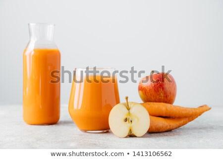Detoxikáló ital üveg bögre szelet alma Stock fotó © vkstudio