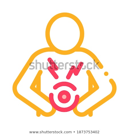Bellyache Icon Vector Outline Illustration Stock photo © pikepicture