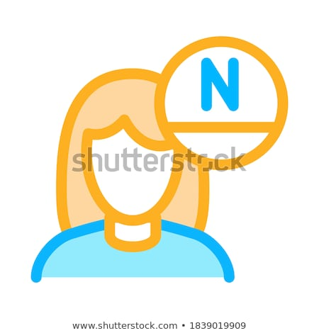 Woman Rejuvenate Vitamin Icon Outline Illustration Stock photo © pikepicture
