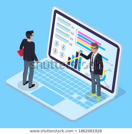 Financial Analysis Man Presenting Infochart Vector Stock photo © robuart