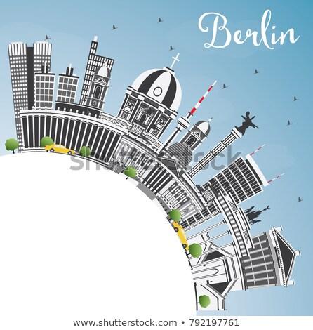 Berlim linha do horizonte cinza edifício blue sky cópia espaço Foto stock © ShustrikS