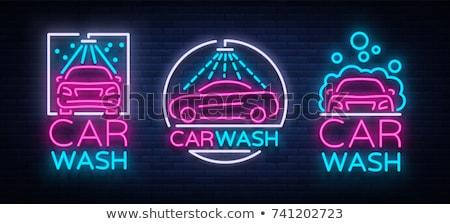 Electric Car Neon Label Stock photo © Anna_leni