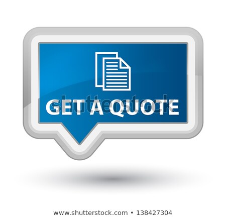 free quote glossy button blue icon stock photo © fotoscool