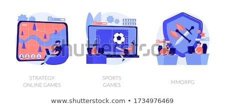MMORPG concept vector illustration. Stock photo © RAStudio