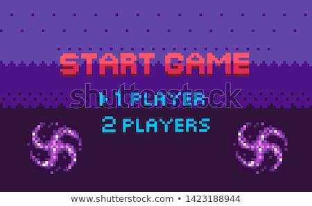 Pixel játék kezdet választ oldal játékos Stock fotó © robuart