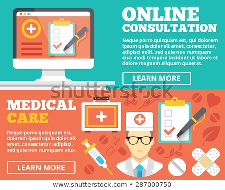 Online Medical Consultation and First Aid Web Stock photo © robuart