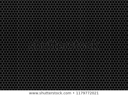 Hexagon grid on black, a4 size horizontal background Stock photo © evgeny89