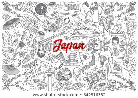 Cartoon vector doodles Japan food illustration Stock photo © balabolka