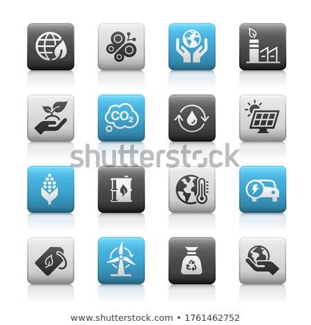 ökológia megújuló energia ikonok matt vektor háló Stock fotó © Palsur