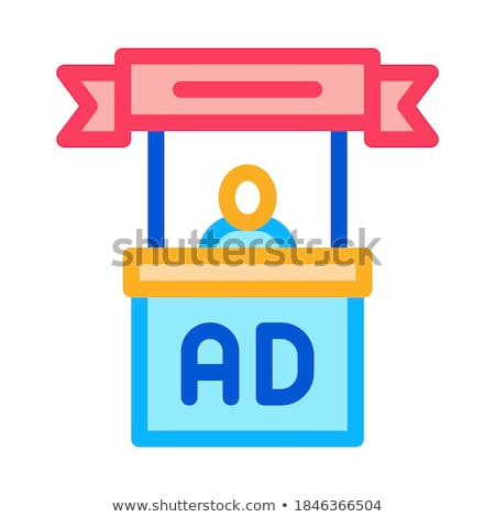 advertising reception center icon vector outline illustration Stock photo © pikepicture