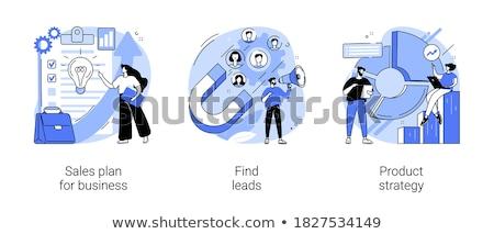 Strategia biznesowa planowania wektora metafora danych analityka Zdjęcia stock © RAStudio