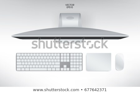 Blank modern computer mouse mockup Stock photo © montego