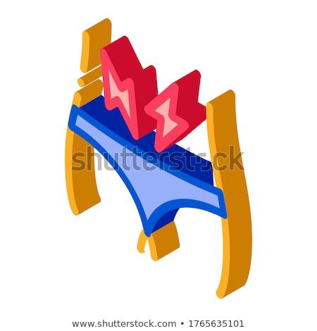снизить брюшной более изометрический икона вектора Сток-фото © pikepicture