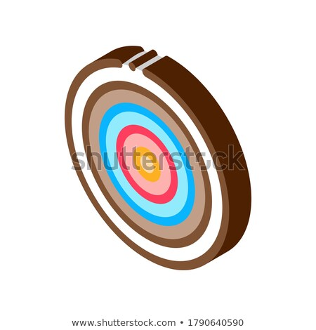 Target Archery Equipment isometric icon vector illustration Stock photo © pikepicture
