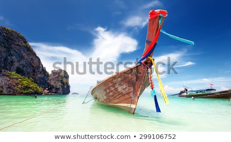 Thai decorated fishing boat stock photo © duoduo