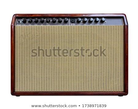 красное дерево оратора 3d иллюстрации звук графических башни Сток-фото © Spectral