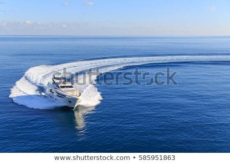 Motorówka morza niebieski spokojny wody podróży Zdjęcia stock © timbrk
