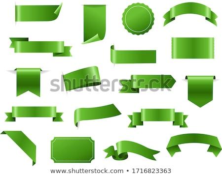 Velho verde banners elementos projeto bandeira Foto stock © Hermione