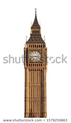 Big Ben téléphone cabine Londres ciel bleu bâtiment Photo stock © johnnychaos