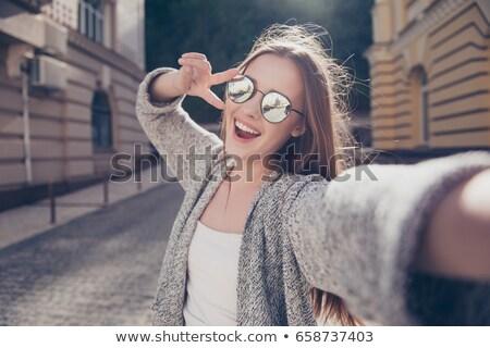 жест · совершенство · привлекательный · счастливым · женщину - Сток-фото © paha_l