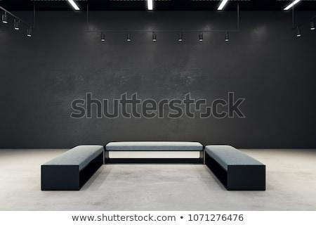 tentoonstelling · hal · frames · bouw · muur · kunst - stockfoto © Paha_L