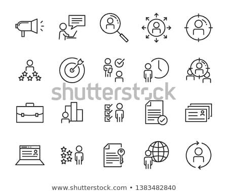 Humaine développement icônes vecteur activités à l'intérieur Photo stock © Jesussanz