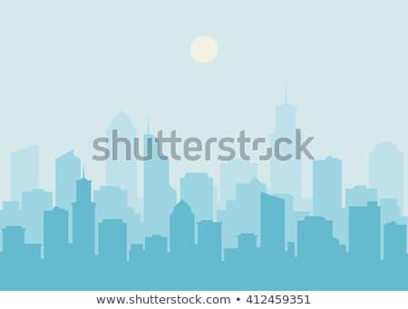 Nappal kilátás belváros város üzlet égbolt Stock fotó © cozyta