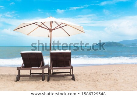 Row of blue chairs in a holiday resort, Turkey Stock photo © duoduo