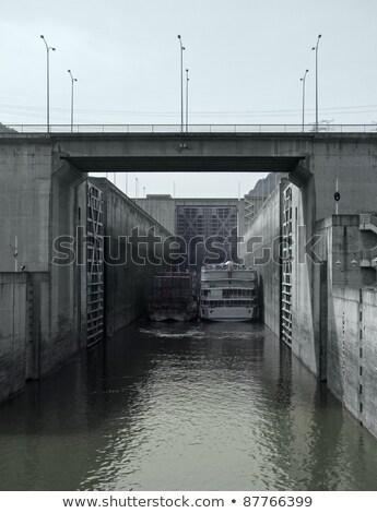Three Gorges Dam Detail Photo stock © PRILL