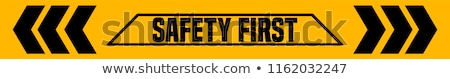 Foto stock: Safety First