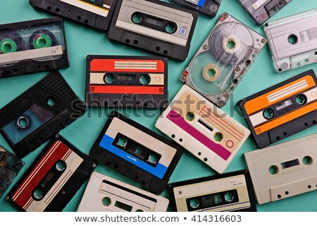 Pile of old tape cassettes Stock photo © elly_l