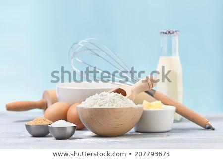 édes hozzávalók torta liszt barnacukor tojások Stock fotó © elly_l