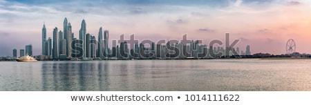 Dubai panorama quartiere degli affari cielo città strada Foto d'archivio © CaptureLight