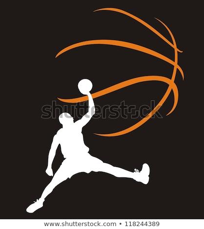 kosárlabdázó · diadal · győzelem · vektor · tornaterem · férfiak - stock fotó © yura_fx