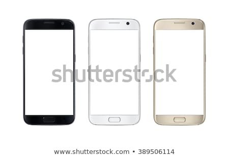 three touch phones isolated on white stock photo © wad