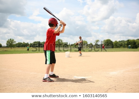 Baseball pratique joueur de baseball Swing printemps Photo stock © stevemc