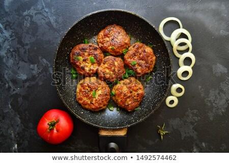 ミートボール 野菜 レストラン プレート サラダ ストックフォト © M-studio