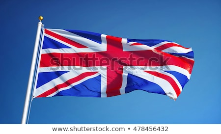 Great Britain flag against a white background Stock photo © ozaiachin