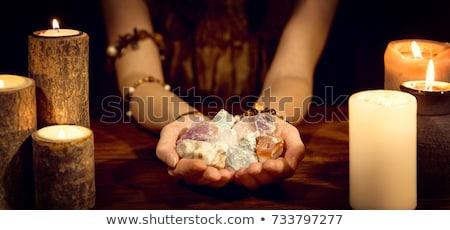 Gyógyító kövek kő tárgyak lila izolált Stock fotó © manfredxy