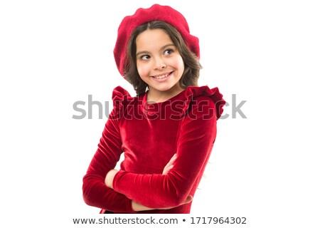 Criança vermelho boina crianças feliz olhos Foto stock © photography33