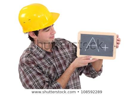 handyman · aprendiz · construção · caneta · fundo · escrita - foto stock © photography33