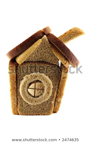 bread slices with chunk over white background Stock photo © shutswis