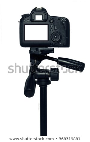Stock photo: Black tripod isolated on white
