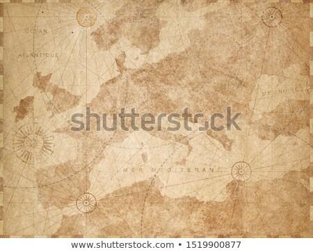 древних выделите карта Европа глядя Сток-фото © rcarner