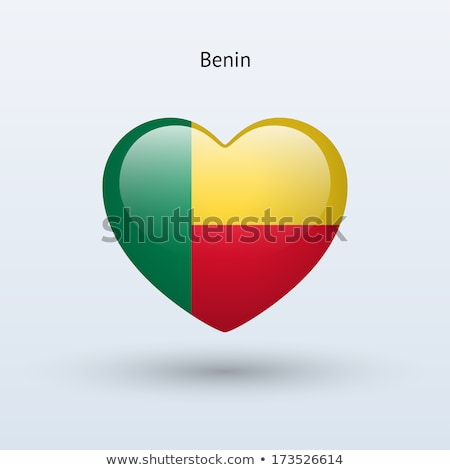 Image of heart with flag of Benin Stock photo © perysty