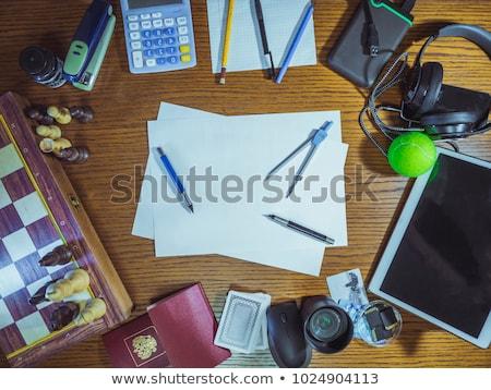 werk · man · pak · bureau · kijken · stuk - stockfoto © jayfish